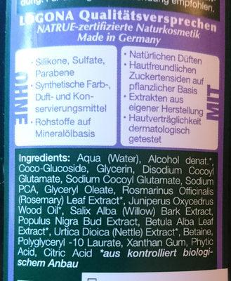Logona Naturkosmetik Anti-Schuppenshampoo - Ingredients - de