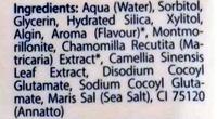 Gel dentaire fraise - Ingredients