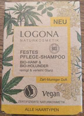Festes Pflege-Shampoo Bio-Hanf & Bio-Holunder - Product - de