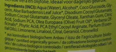 Shampoing Logona BIO Aloe + Verveine Daily Care - Ingrédients - fr