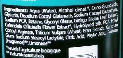 Shampooing réparateur au ginkgo - Ingredients