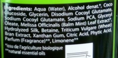 Shampooing normalisant à la mélisse - Ingredients - fr