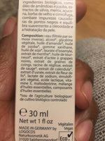 Fluide Hydratant Menthe Bio - 30 ML - Logona - Ingredients - fr