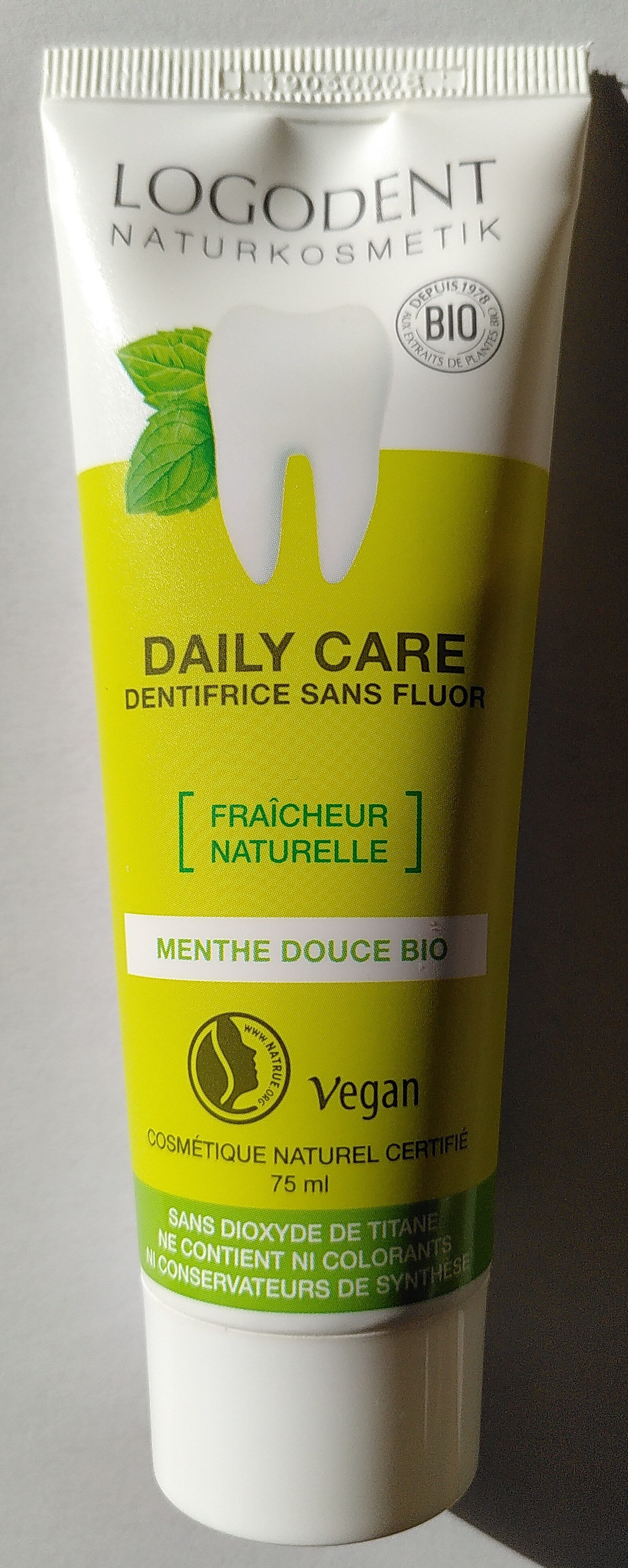 Daily Care - Dentifrice sans fluor - Product - fr
