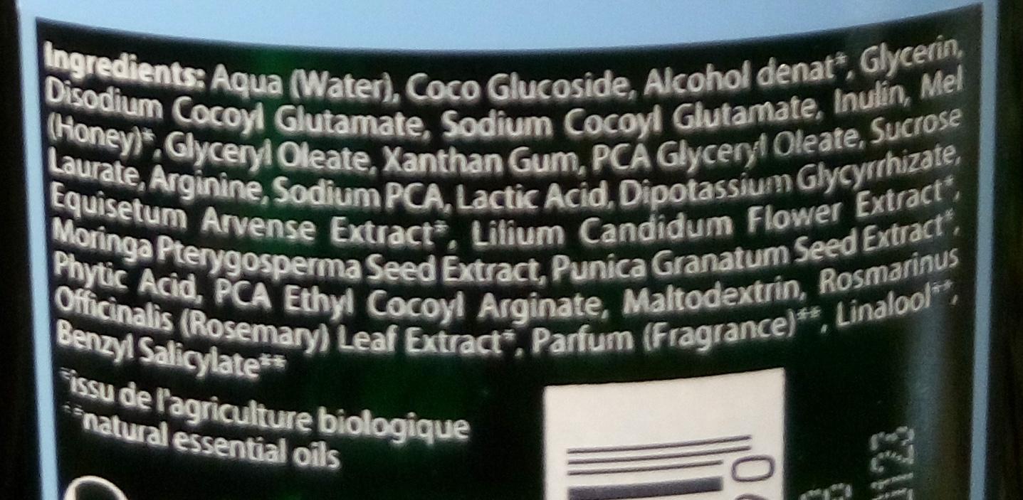 Shampooing sensitif à l'acacia bio - Ingredients