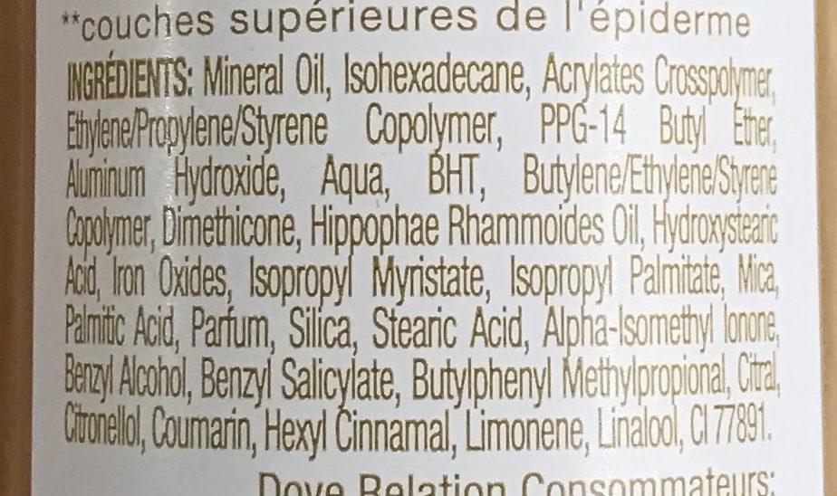 DermaSpa Nutri Essence³ - Ingredients - fr