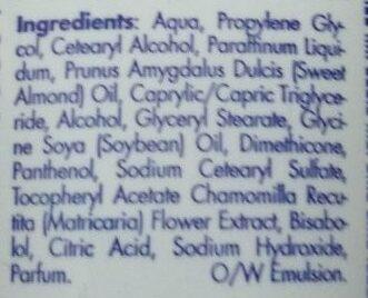 Hand Cream - Ingredients - de