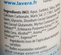 Dentifrice Basis sensitiv à l'échinacée bio et à la propolis - Ingredients - fr