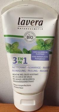 3 En 1 Nettoyant - Gommage - Masque - Produit