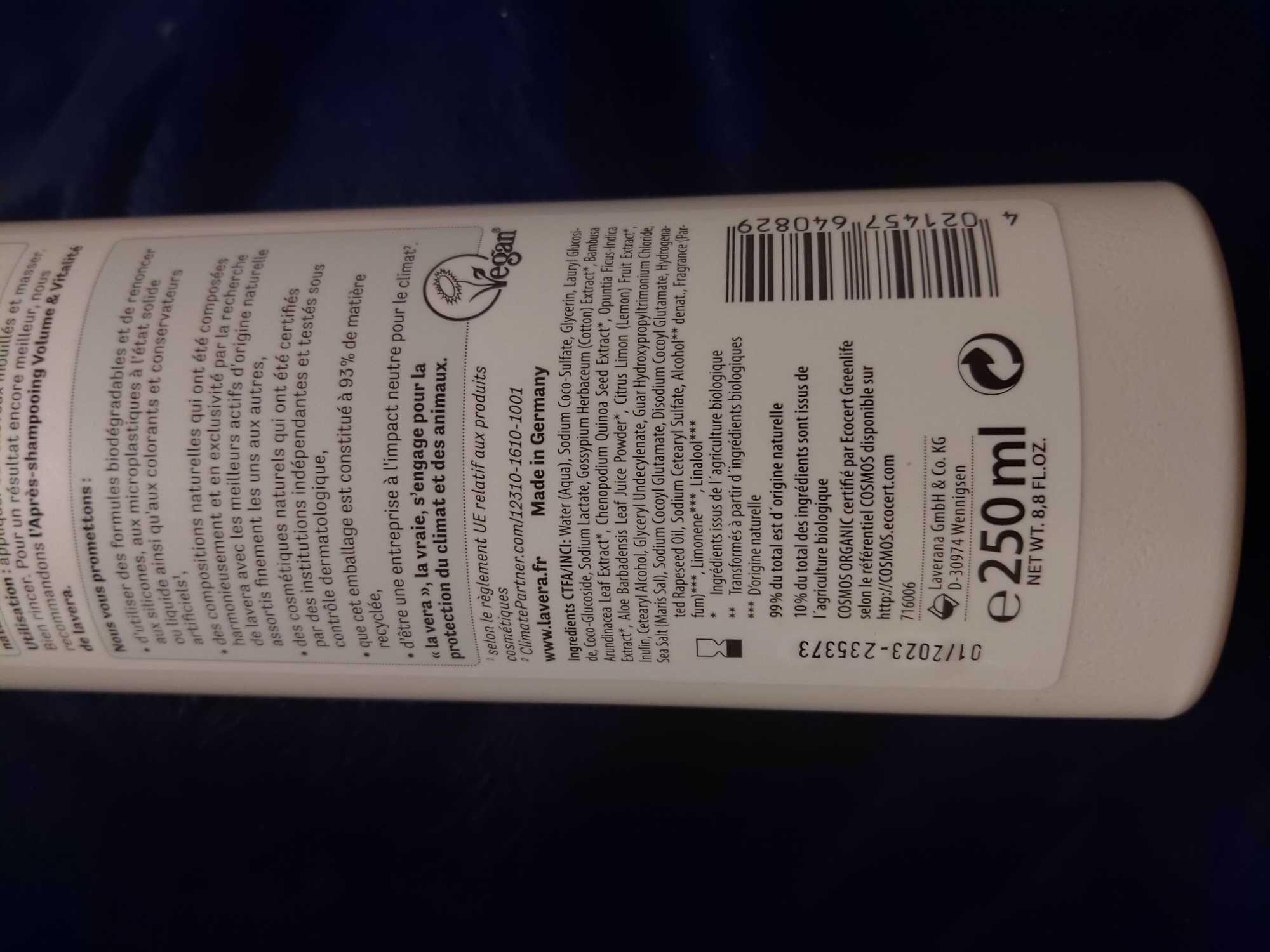 Shampooing Volume & Vitalité - Product - fr