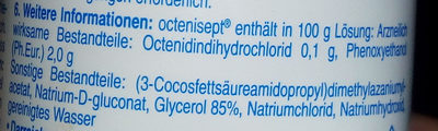 octenisept farblos - Ingredients