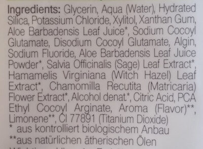 Flourid Zahncreme - Ingredients