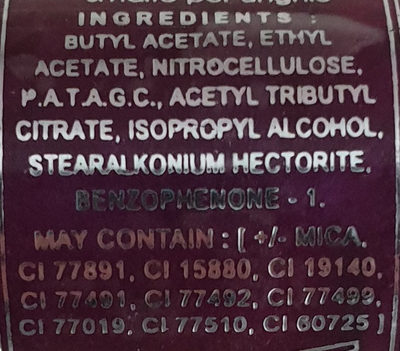 Nail Polish - Ingredients - de