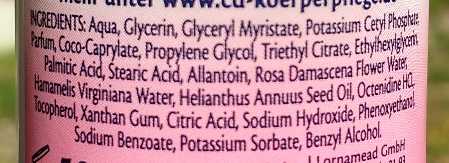 Hautzart Wildrose - Ingredients