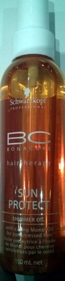 BC Bonacure Hair Therapy Sun protect shimmer oil - Product