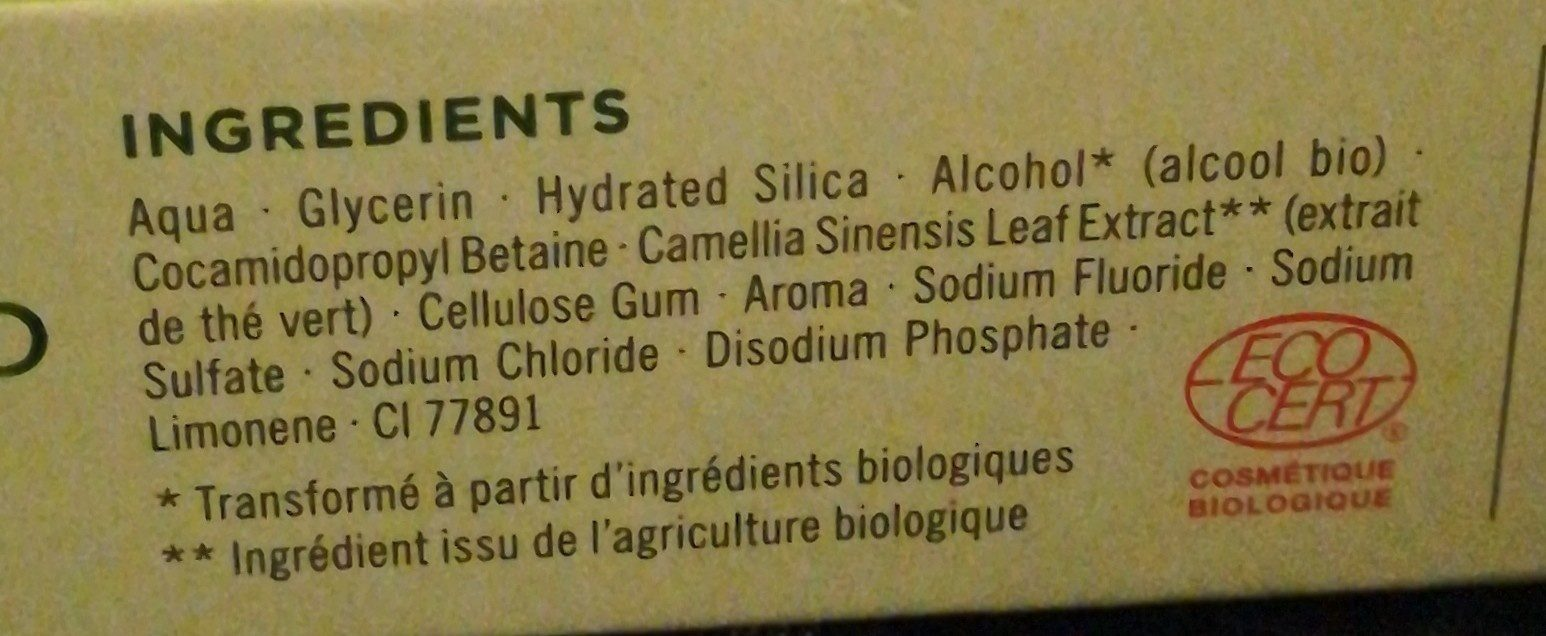 Dentifrice siberica - Ingrédients - fr