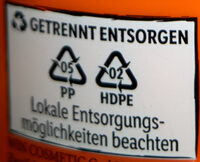 Cien Sun LSF 50 hoch - Recycling instructions and/or packaging information - en