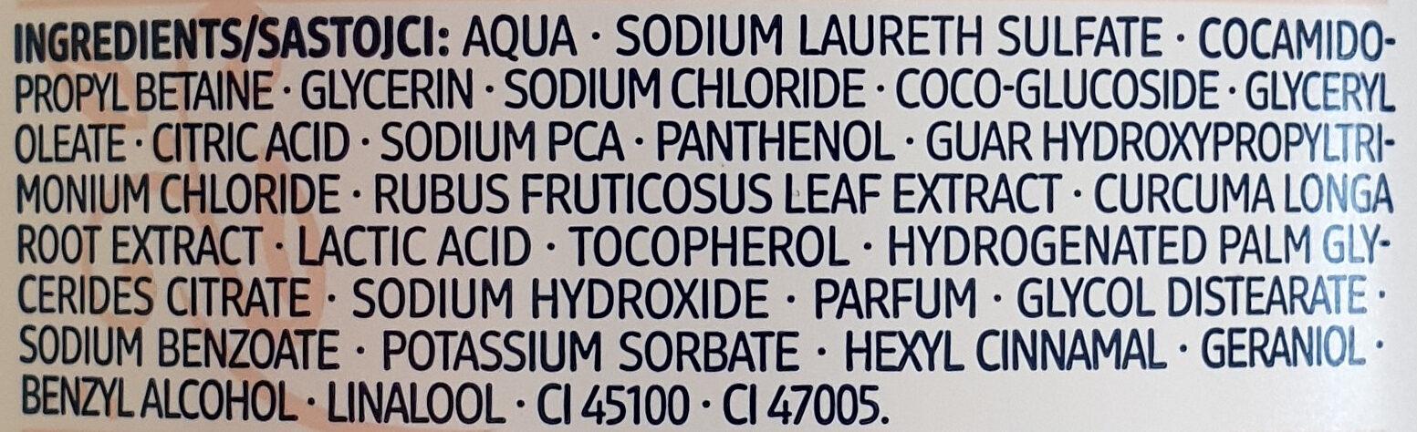 Schönheitsgeheimnisse Pflegende Duschcreme Goldene Milch - Ingredients