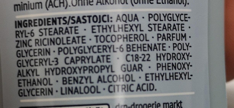 Sensitive Deodorant men - Ingredients - de