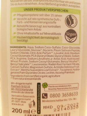 Volumen-Kick Shampoo Bio-Kiwi Bio-Apfelminze - Ingredients - de