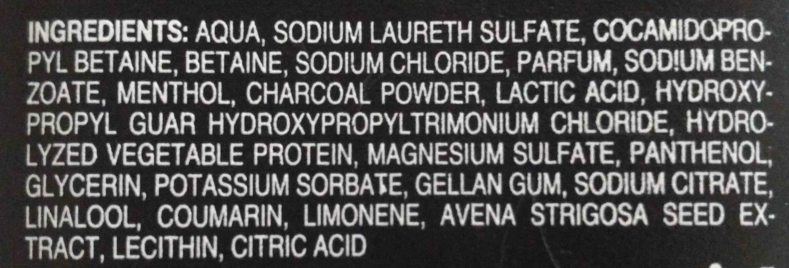 shampoo tiefenreinigend (menthol aktivkohle) - Ingrédients - de
