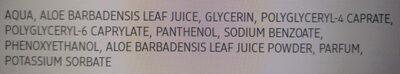 Gesichtsspray Aloe Vera - Ingredients - en