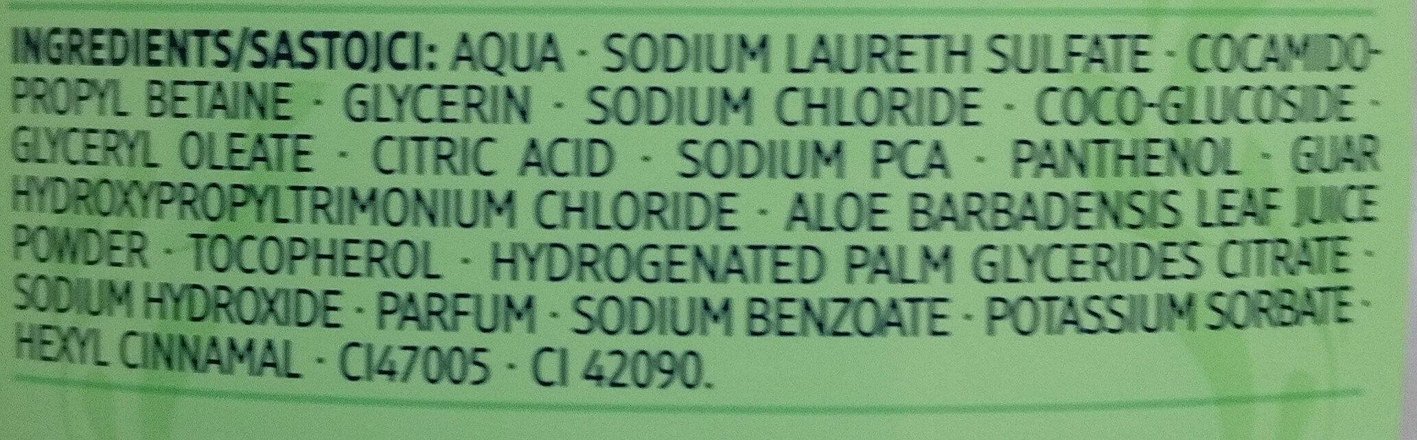 Dusche Schönheitsgeheimnisse Aloe Vera - Ingredients - de