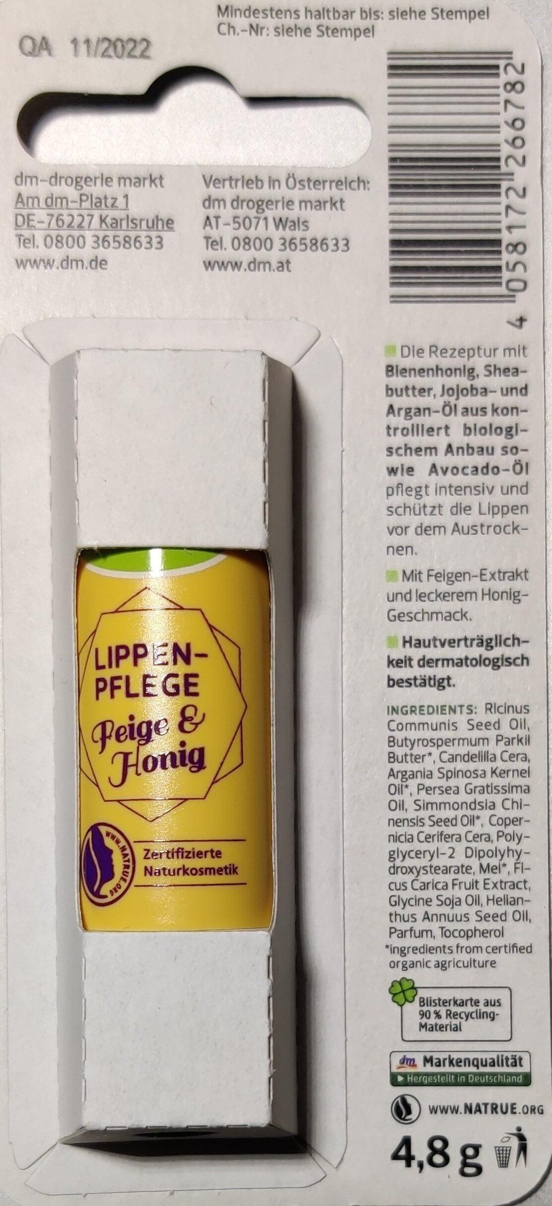 Lippen Pflege Feige & Honig - Product - en