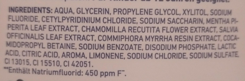 Dontodent Antibakterielle Mundhygiene - Ingredients