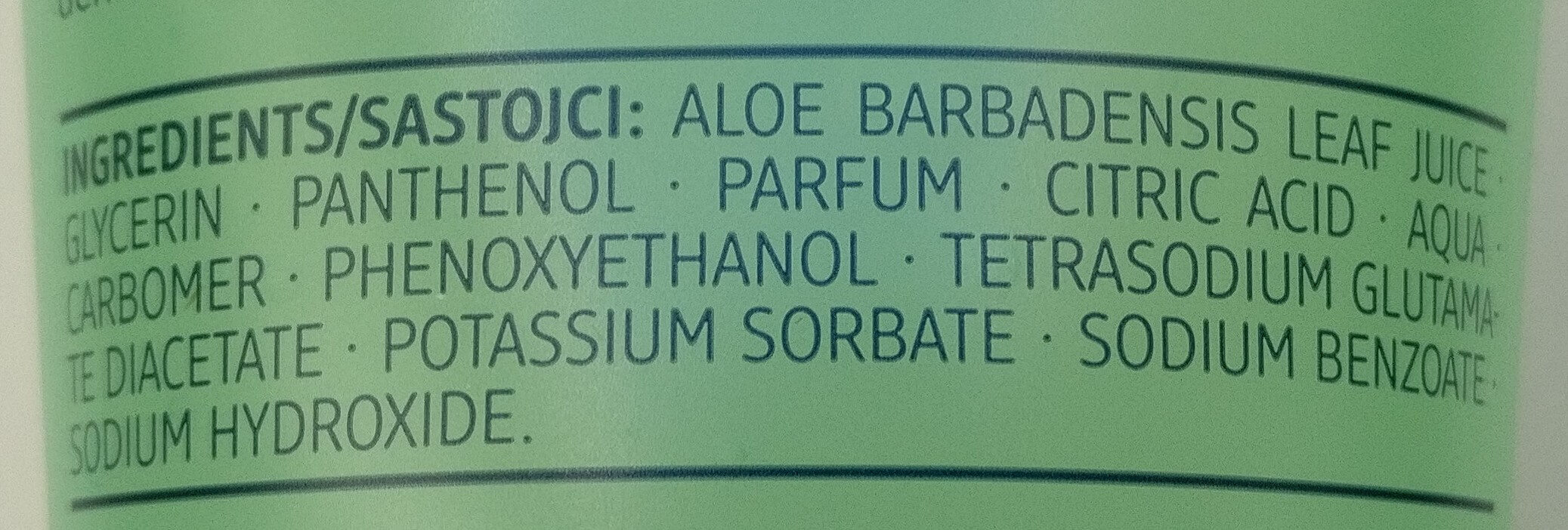 Bodygel Aloe Vera - Ingredients - de