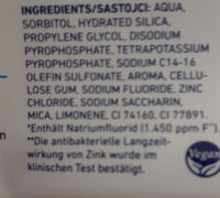 Clear Fresh Zahnpasta - Ingredients - de