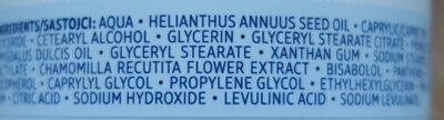 Pflegecreme sensitive - Ingredients - de