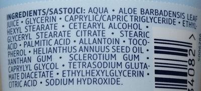 Aloe Vera Gesichtscreme - Ingredients - de