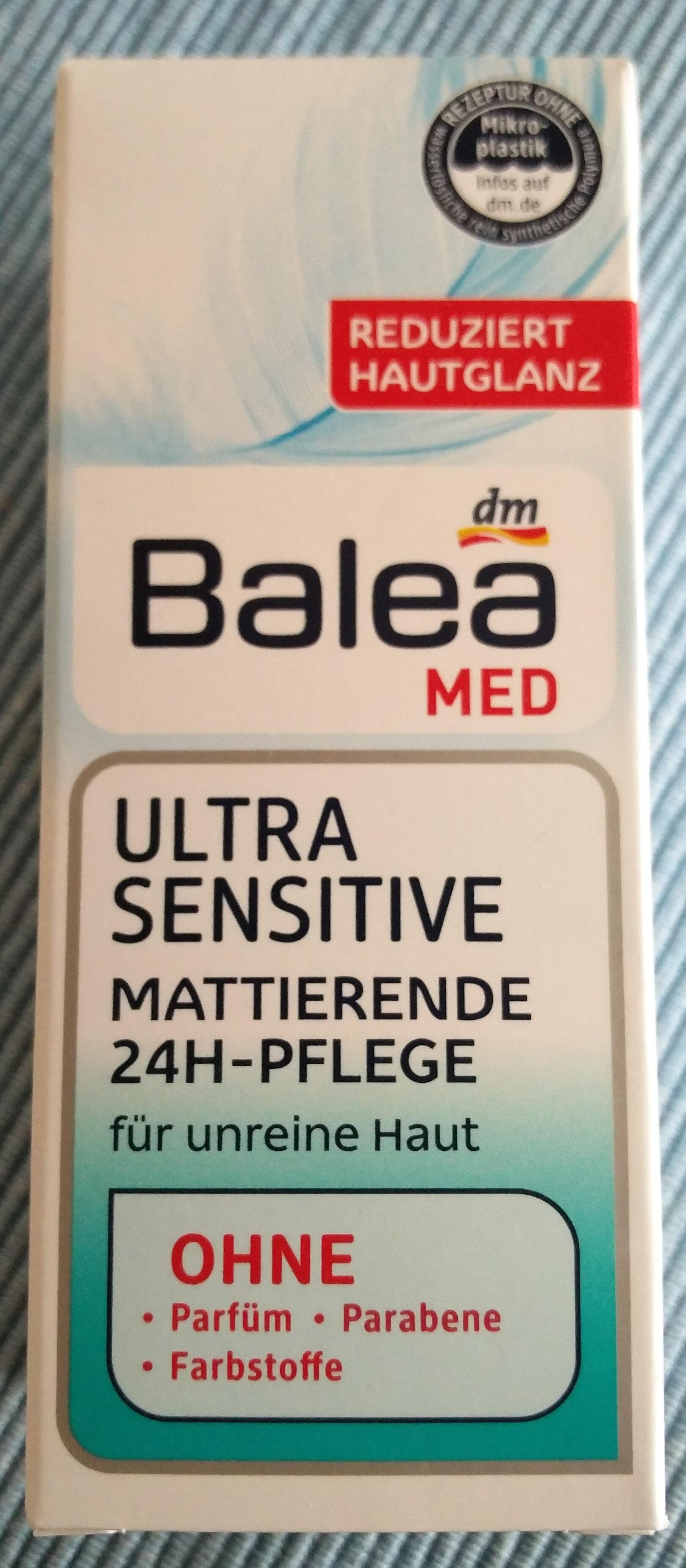 Ultra Sensitive mattierende 24h-Pflege (für unreine Haut) - Produit - de