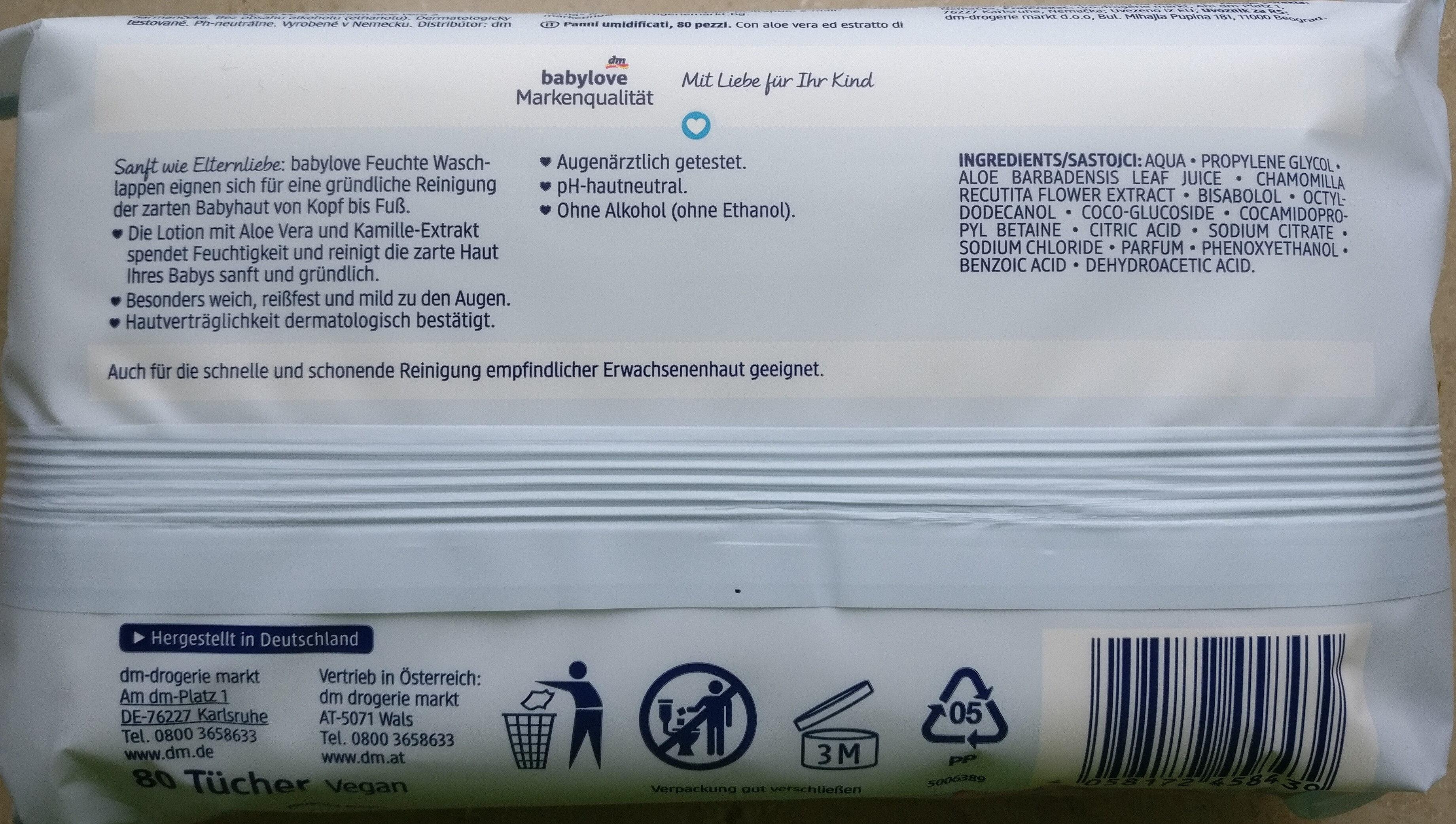 Feuchte Waschlappen - Product - en