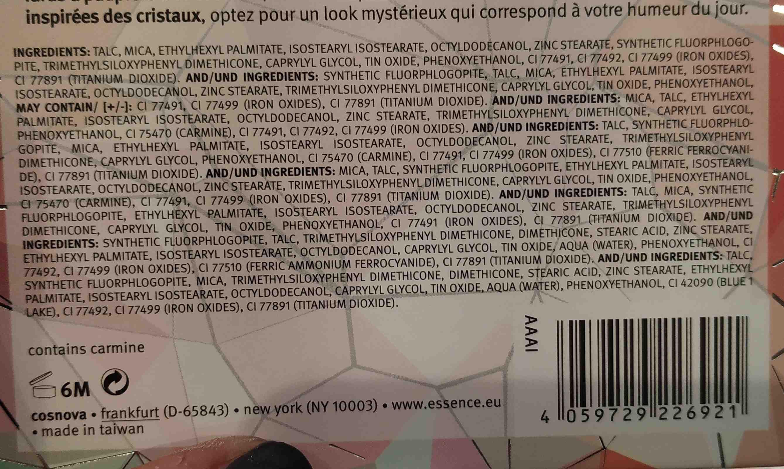 crystal powder essence - Ingredients - en