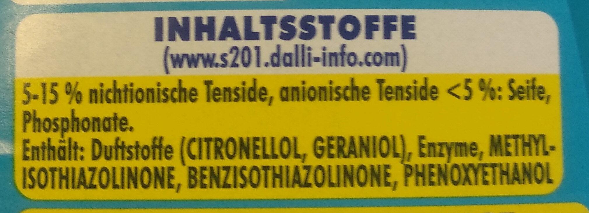 Feinwaschmittel - Ingredients - en