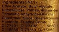 Nagellack - Ingredients - de