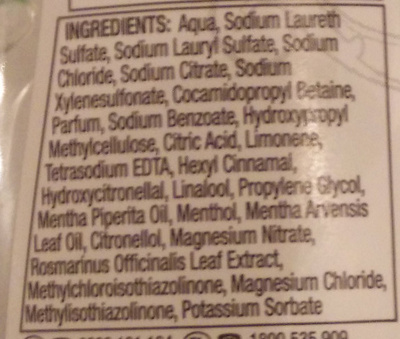 Clearly Naked Moisture Shampoo - Ingredients
