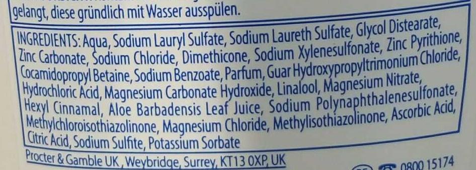 Shampooing antipelliculaire Sensitive - Ingrédients - fr