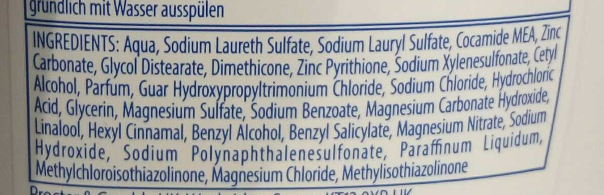 Shampooing antipelliculaire Lisse & Soyeux - Ingredients