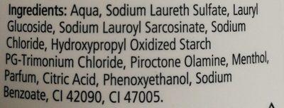Antischuppen Shampoo - Ingrédients