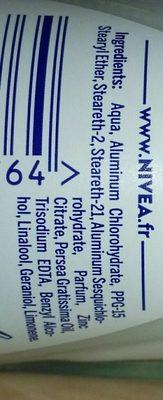 Déodorant anti-transpirant, stress protect 48h - Ingredients - fr