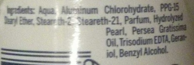 Anti-transpirant Pearl & beauty - Ingredients