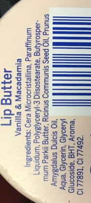 Labello - Lip Butter Vanilla & Macadamia - Ingredients