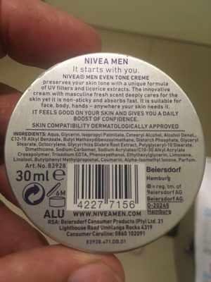 Nivea men - Product