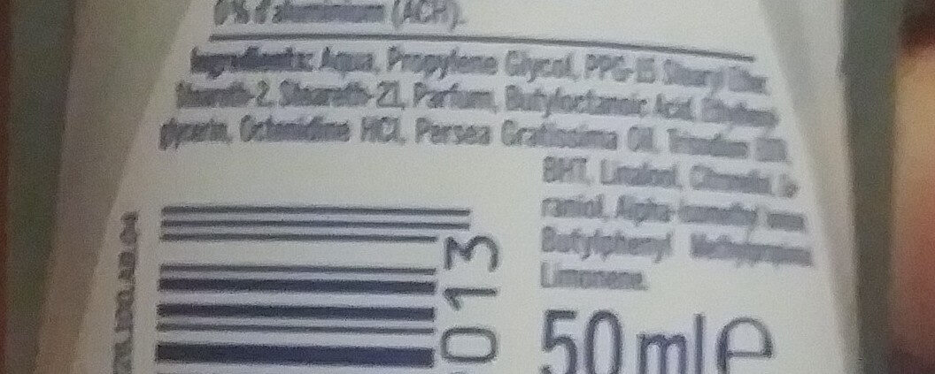 fresh pure Deodorant - Ingredients