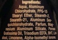 Dry Fresh Real Life Tested 48h - Ingrédients - en