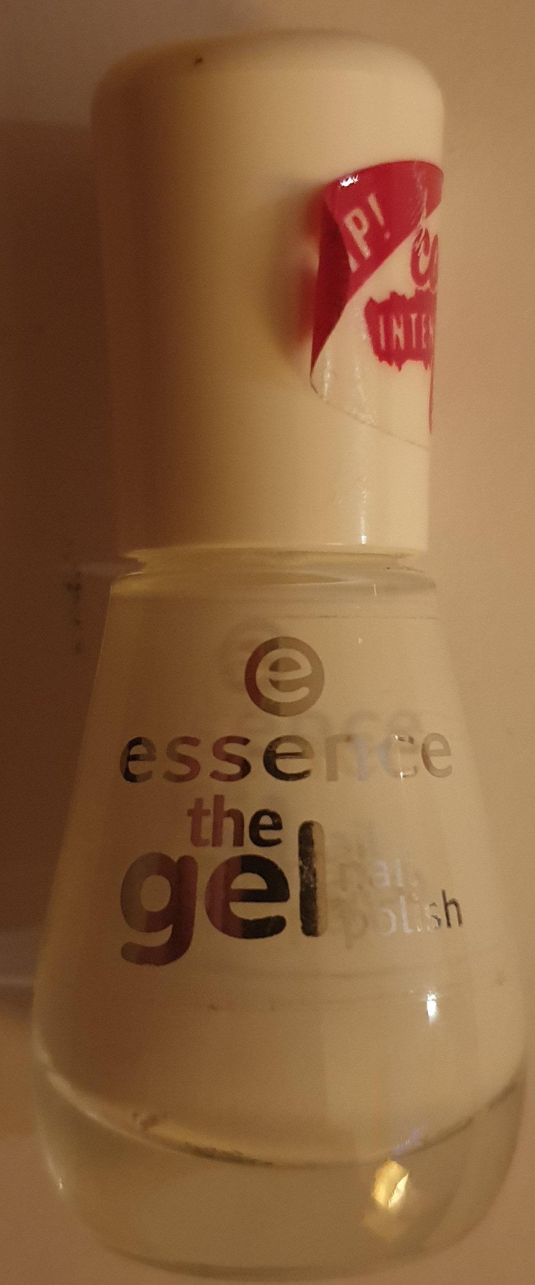 the gel colour nail polish intesiyeing base 33 wild white base - Product