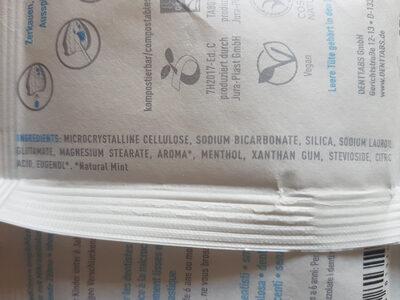 DENT tabs - Ingredients